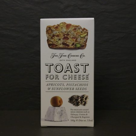 TOAST FOR CHEESE WITH APRICOT, PISTACHIOS & SUNFLOWER SEEDS