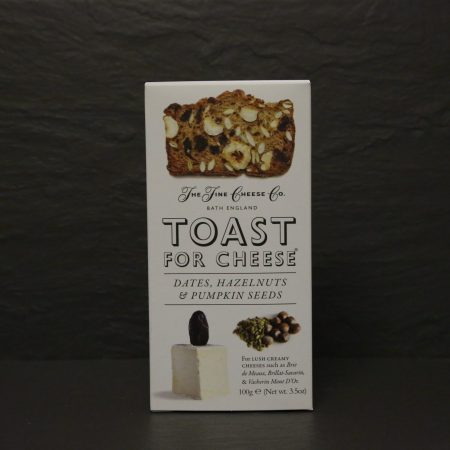 TOAST FOR CHEESE WITH DATES, HAZELNUTS & PUMPKIN SEEDS